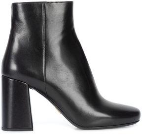 Prada block heel ankle boots