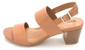 Giani Bernini Womens Maggiee Leather Open Toe Casual Slingback Sandals.