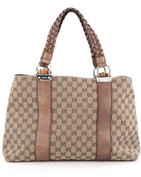 Gucci Pre-owned: Bamboo Bar Tote Gg Canvas Medium. - BROWN - STYLE