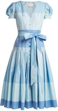 Carolina Herrera Stripe jacquard panelled dress