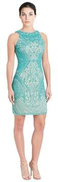 Theia Beaded Sleeveless Dress.