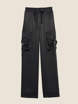 Donna Karan Donnakaran Satin Twill Cargo Pant Black S