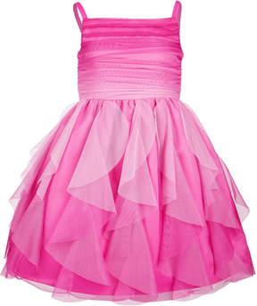 Bonnie Jean Little Girls Ombre Cascading Ruffle Dress