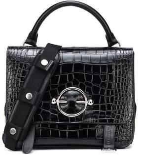 J.W.Anderson Disc Satchel embossed leather shoulder bag