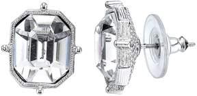 1928 Emerald-Cut Crystal Stud Earrings