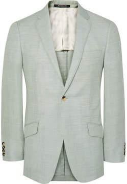 Richard James Green Seishin Slim-Fit Wool, Linen And Mohair-Blend Suit Jacket