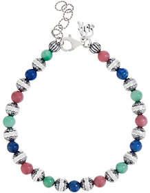 American West Sterling & Gemstone Bead Bracelet