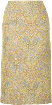 CITYSHOP floral pattern midi skirt