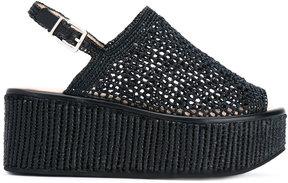 Robert Clergerie crochet mesh sandals