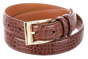 Ralph Lauren Embossed Leather Belt
