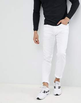 Love Moschino Skinny Jeans In White With Milano Logo
