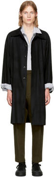 Ann Demeulemeester Black Raw Cut Trench Coat