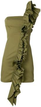 Dondup frill-trim fitted dress
