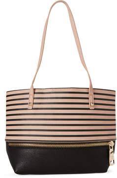 Patrizia Pepe Rose & Black Stripe Shoulder Bag