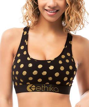 Ethika Black Gold Member Sports Bra