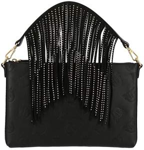 Pinko Clutch Love Bag Nitrito Flat Leather With Logo All-over