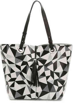 Women's Elise Leather Tote -Black/White