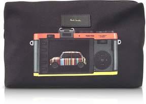Paul Smith Black Canvas Leica Print Men's Wash Bag
