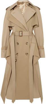 Alexander McQueen Cotton-gabardine Trench Coat - Beige