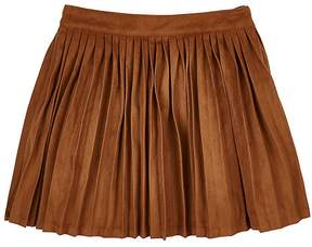 Billieblush PLEATED FAUX-SUEDE SKIRT