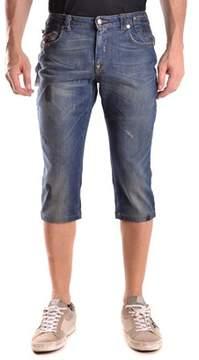 CNC Costume National Men's Blue Cotton Shorts.