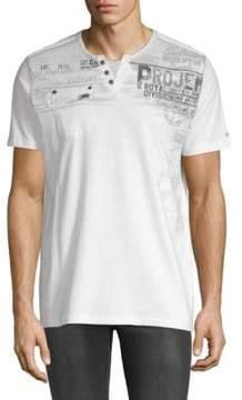 ProjekRaw Jersey Short-Sleeve Cotton Henley
