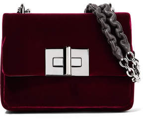Tom Ford Natalia Velvet Shoulder Bag - Burgundy