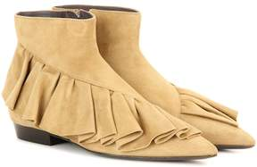 J.W.Anderson Ruffle suede boots
