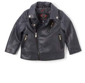 Urban Republic Navy Faux Leather Moto Jacket - Toddler & Boys