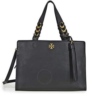 Tory Burch Brooke Smooth Leather Satchel- Black - ONE COLOR - STYLE