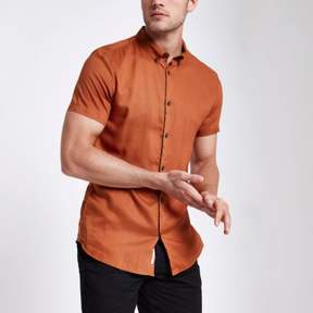 River Island Mens Orange slim fit short sleeve shirt