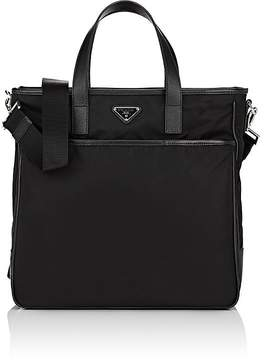 Prada Men's Leather-Trimmed Tote Bag
