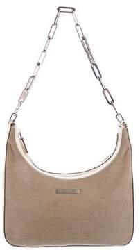 Gucci Canvas Chain Shoulder Bag - NEUTRALS - STYLE