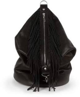 Saint Laurent Fringed Leather Sac Backpack