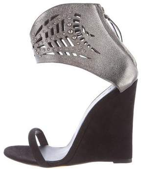 IRO Suede Wedge Sandals