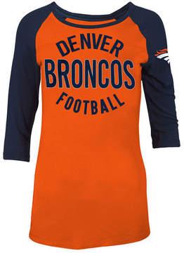 5th & Ocean Women's Denver Broncos Rayon Raglan T-Shirt