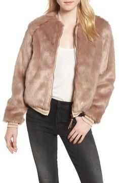 Mother Women's The Letterman Faux Fur Jacket