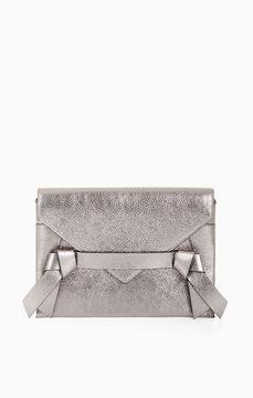 BCBGMAXAZRIA Nicoletta Metallic Leather Clutch