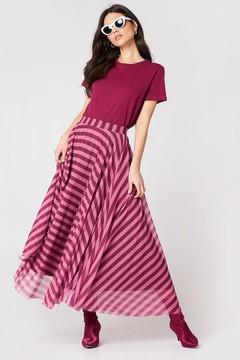 NA-KD Na Kd Striped Mesh Skirt