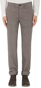Massimo Alba MEN'S GLEN PLAID WORSTED WOOL TROUSERS