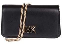 Michael Kors Women's Black Leather Clutch. - BLACK - STYLE