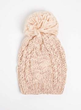 Dorothy Perkins Pink Cable Knit Beanie Hat