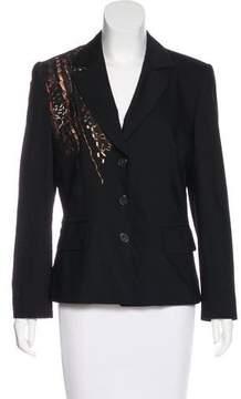 Christian Lacroix Bazar de Embellished Virgin Wool Blazer