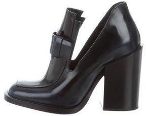 Jil Sander Leather Loafer Pumps