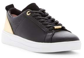 Ted Baker Kulei Leather Snake-Embossed Sneaker