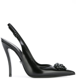 Versace Medusa Head slingback pumps