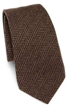 Ralph Lauren Puple Label Herringbone Cashmere & Silk Tie