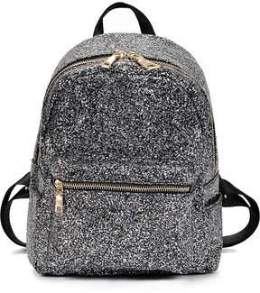 Shein Zipper Front Glitter Design Backpack