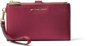 MICHAEL Michael Kors Hammered Leather Wallet - RED - STYLE