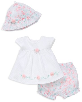 Little Me Girls' Floral Top, Shorts & Hat Set - Baby